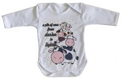 Roupa Bebê manga longa Pilha de Vacas