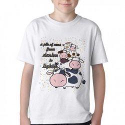 Camiseta Infantil Pilha de Vacas