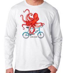 Camiseta Manga Longa Polvo Bicicleta