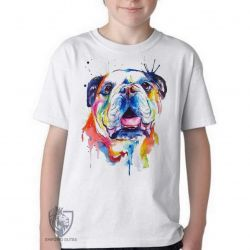 Camiseta Infantil Cachorro Bulldog