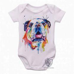 Roupa Bebê Cachorro Bulldog