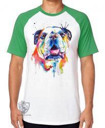 Camiseta Raglan Cachorro Bulldog
