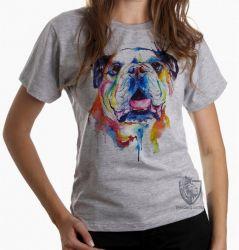 Blusa Feminina Cachorro Bulldog
