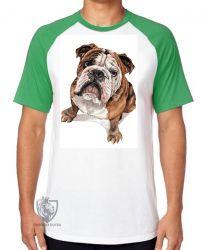 Camiseta Raglan Cachorro Bulldog Dog