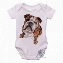 Roupa Bebê Cachorro Bulldog Dog