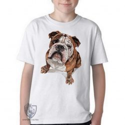 Camiseta Infantil Cachorro Bulldog Dog