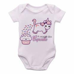 Roupa Bebê Magia Cupcake Unicórnio