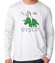 Camiseta Manga Longa Dinossauro Unicórnio
