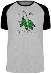 Camiseta Raglan Dinossauro Unicórnio