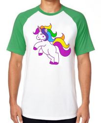Camiseta Raglan Unicórnio