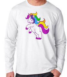 Camiseta Manga Longa Unicórnio