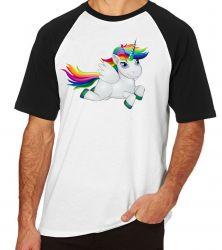 Camiseta Raglan Cavalo Unicórnio