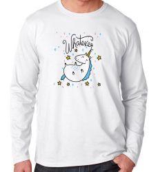 Camiseta Manga Longa Unicórnio Whatever