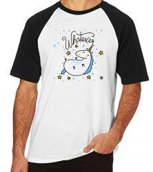 Camiseta Raglan Unicórnio Whatever