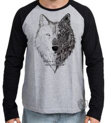 Camiseta Manga Longa Vence o Lobo