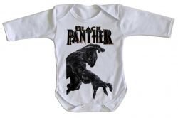 Roupa Bebê manga longa Pantera Negra