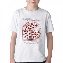 Camiseta Infantil Peter Parker Pizza