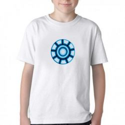 Camiseta Infantil Reator Tony Stark