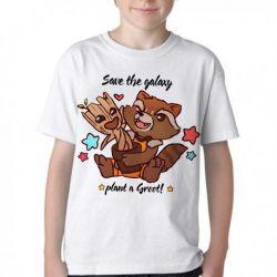 Camiseta Infantil Salve galáxia