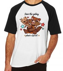 Camiseta Raglan Salve galáxia