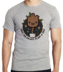 Camiseta Infantil Plante Groot Árvore