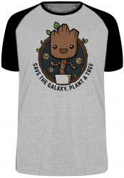 Camiseta Raglan Plante Groot Árvore