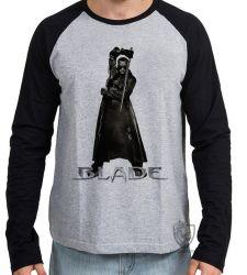 Camiseta Manga Longa Blade Wesley Snipes