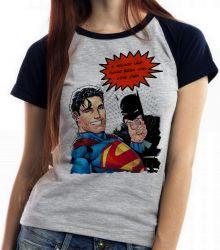 Blusa Feminina Superman Batman