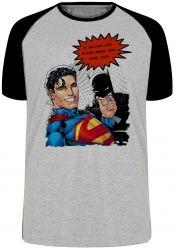 Camiseta Raglan Superman Batman