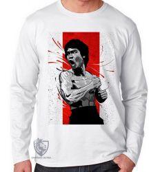 Camiseta Manga Longa Bruce Lee