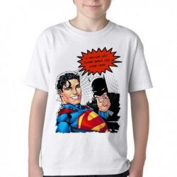 Camiseta Infantil Superman Batman