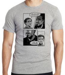 Camiseta Infantil Tony Stark  Peter Parker