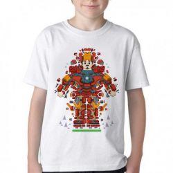 Camiseta Infantil Homem Ferro Peças