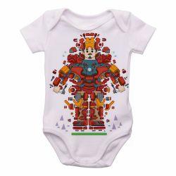 Roupa Bebê Homem Ferro Peças
