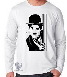 Camiseta Manga Longa Charles Chaplin