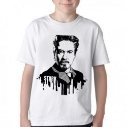 Camiseta Infantil Tony Stark