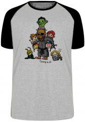 Camiseta Raglan Vingadores Crianças