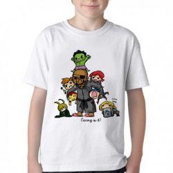 Camiseta Infantil Vingadores Crianças
