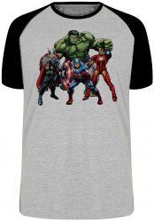 Camiseta Raglan Vingadores