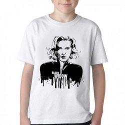 Camiseta Infantil Viúva Negra