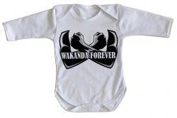 Roupa Bebê manga longa Wakanda