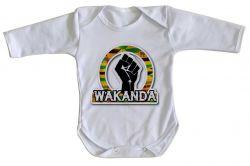 Roupa Bebê manga longa Wakanda Forever