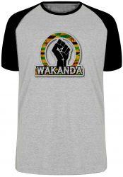 Camiseta Raglan Wakanda Pantera Negra