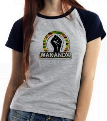 Blusa Feminina Wakanda Pantera Negra