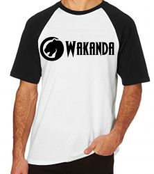 Camiseta Raglan Wakanda Black Panther