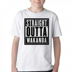 Camiseta Infantil Straight Pantera Negra