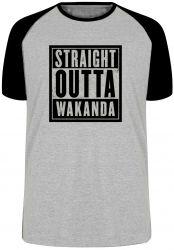 Camiseta Raglan Straight Pantera Negra