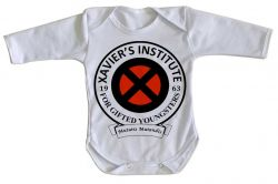 Roupa Bebê manga longa Xavier Institute  X-Men