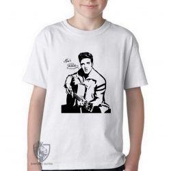 Camiseta Infantil Elvis Presley guitar