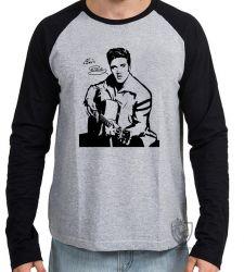 Camiseta Manga Longa Elvis Presley guitar
